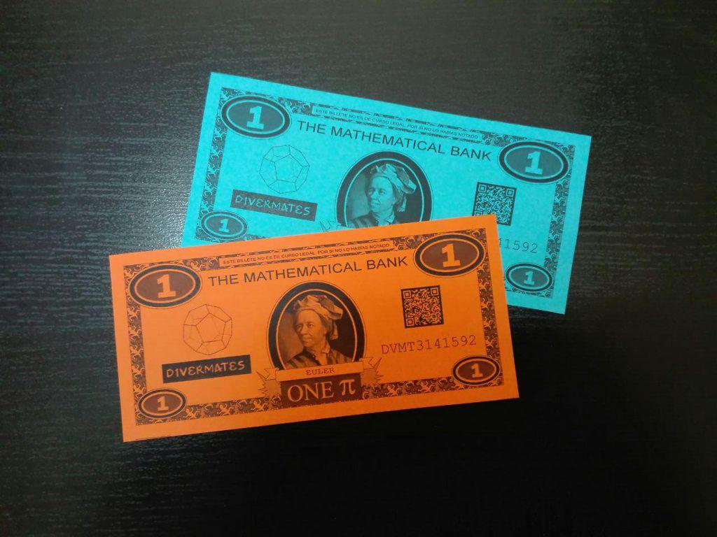 billetes pi. matemáticas a la calle