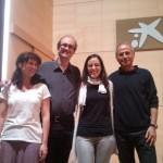 Con Fernando Corbalán, Fernando Blasco y Raquel Garrido