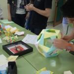 Alumno terminando el dodecaedro