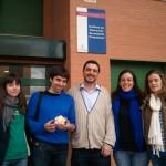 IES Carpetania (El director José y Ana y Diana, profesoras de Matemáticas) y parte del equipo de Divermates