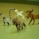 Animales de papiroflexia: mapache, alce, pegaso y lemur de cola anillada