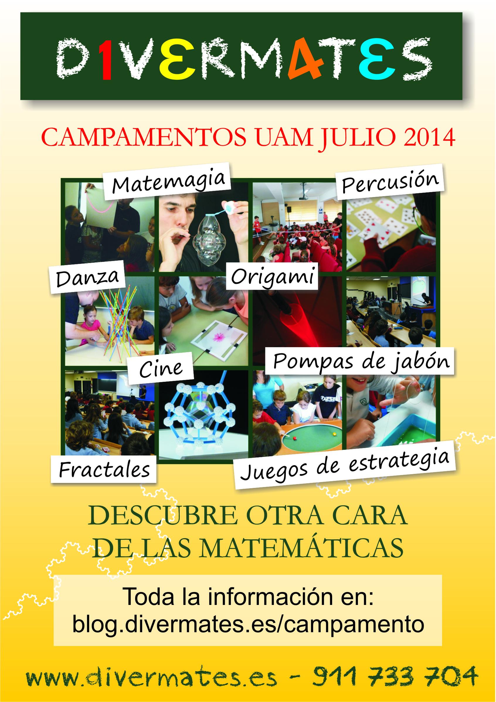 flyer campamento Divermates 2014